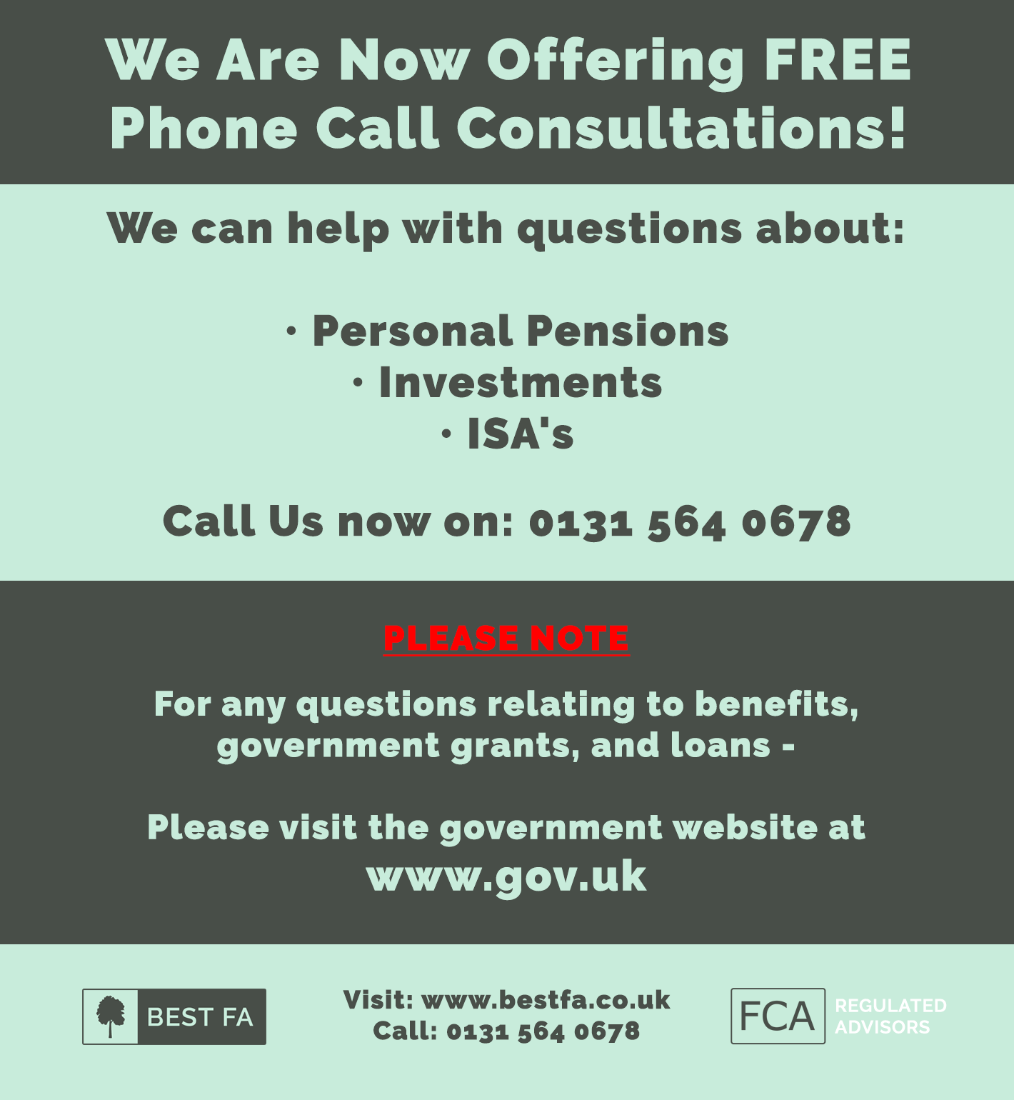 financial advice phone consultations